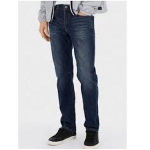 Arizona Mens Blue Jeans Slim Straight 34 x 32